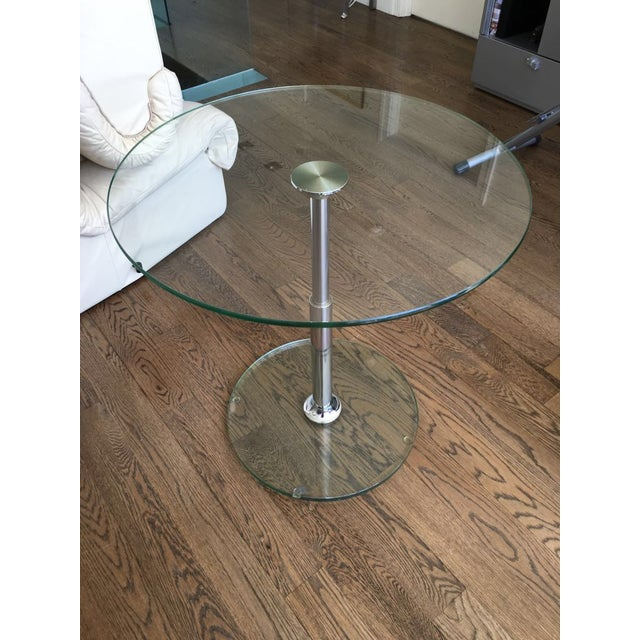 Draenert 1010 Largo Glass Coffee/Bistro Table - Image 2 of 4