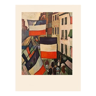 """1954 Raoul Dufy, """"Street Decked With Flags"""" First Edition Lithograph For Sale"""