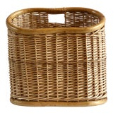 Image of Vintage Wicker and Bamboo Basket For Sale