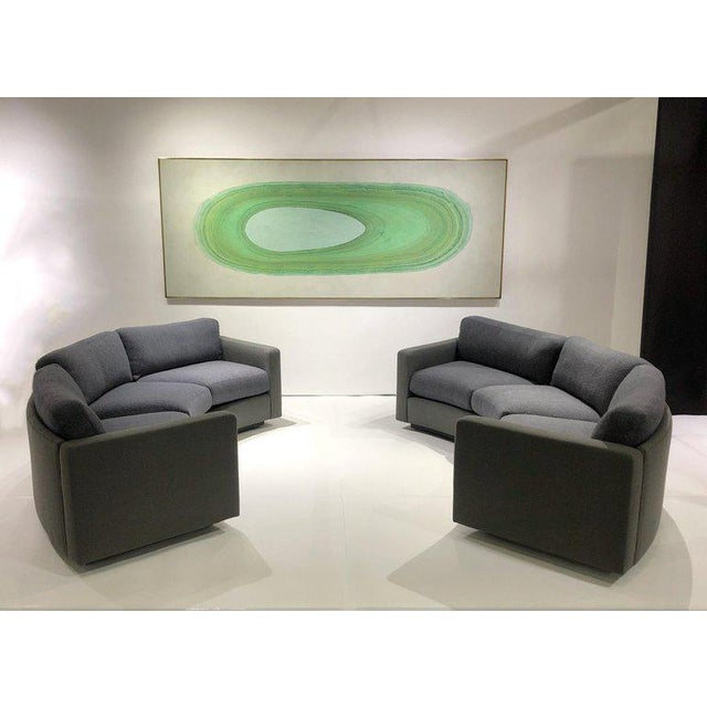 Contemporary Milo Baughman for Thayer Coggin Curb Sofas - a Pair For Sale - Image 3 of 8