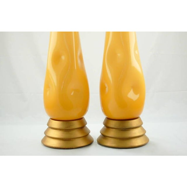 Murano Vintage Murano Glass Table Lamps Butterscotch For Sale - Image 4 of 9