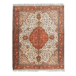 "India Tabriz Wool Rug 9 Feet 5"" X 12 Feet 8"" For Sale"