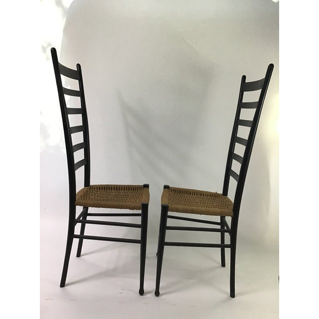 Gio Ponti Gio Ponti Ladder Back Chairs - a Pair For Sale - Image 4 of 9