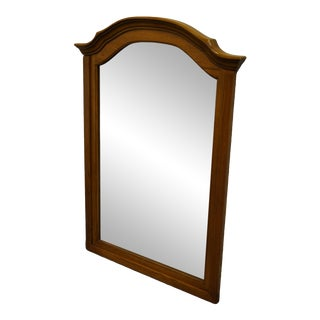 Bassett Furniture Solid Oak Country French Dresser Mirror For Sale