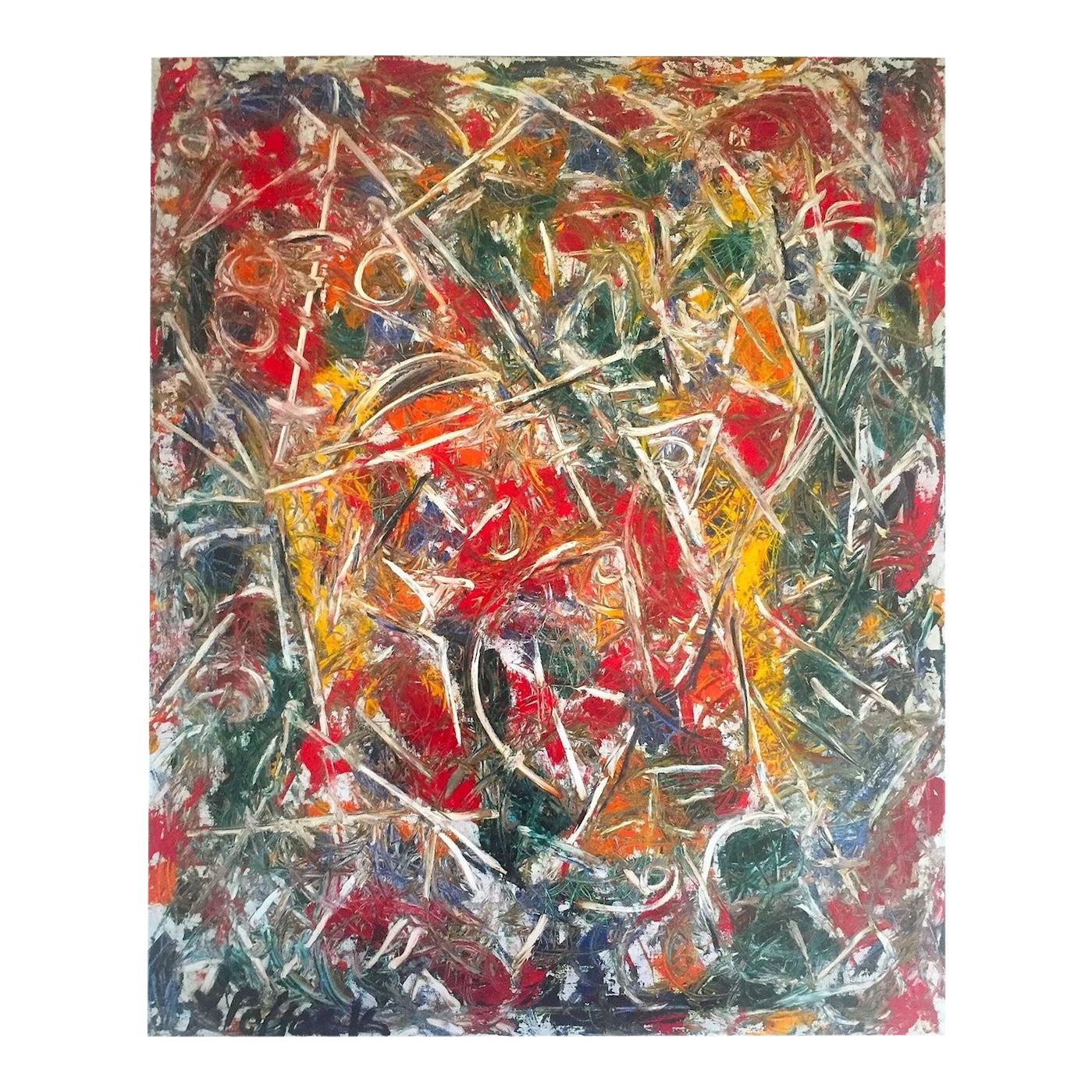 Jackson pollock foundation abstract expressionist lithograph collectors print croaking movement 1946 chairish