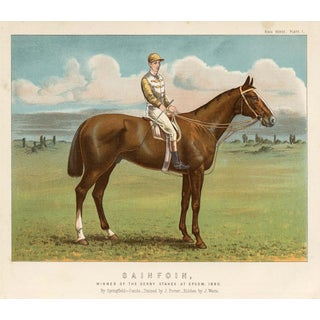 Print of Sanfoin, 1890 Derby Stakes Winner For Sale