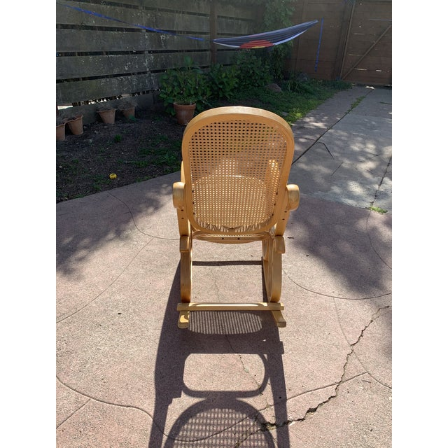 Cane Bentwood Rocking Chair In The Style of Michael Thonet For Sale - Image 4 of 8