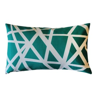 Pillow Decor Bird's Nest Teal 12x20 Pillow For Sale