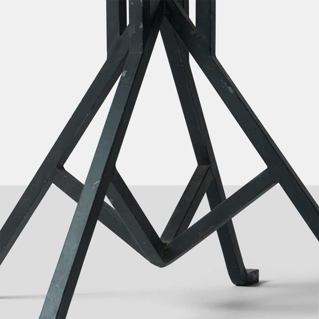 Metal Pair of Warren McArthur and Frank Lloyd Wright Iron Side Tables For Sale - Image 7 of 8