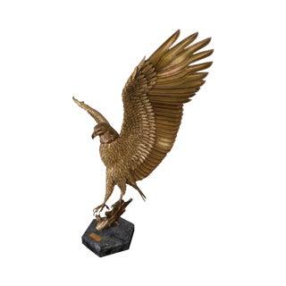 Wind Swept by Robert Signorella Sculpture of Baled Eagle Landing 11/24 For Sale