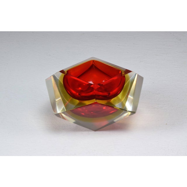 Glass Italian Midcentury Murano Bowl by Flavio Poli, 1950s For Sale - Image 7 of 12