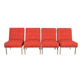 Florence Knoll Style Set of 4 Chairs For Sale