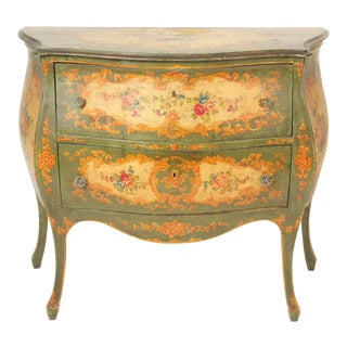 Italian Louis XV Style Painted Commode For Sale