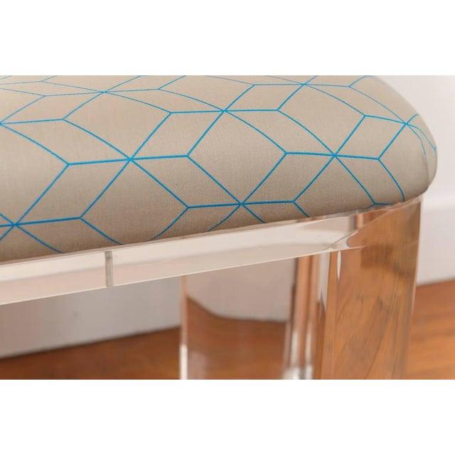 Karl Springer Style Lucite Bench - Image 6 of 8