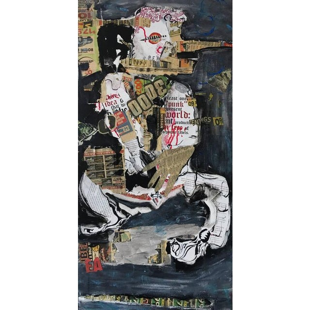 Abstract Seated Figure Collage - Image 6 of 6