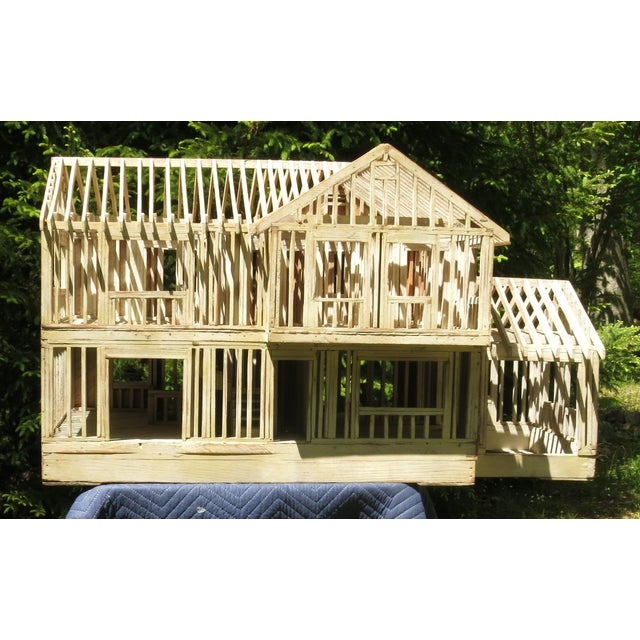 Vintage Architectural Model Wood House For Sale - Image 11 of 11