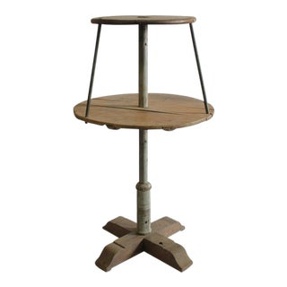 Early 20th C. Vintage Dry Goods Store Two-Tier Display Table For Sale