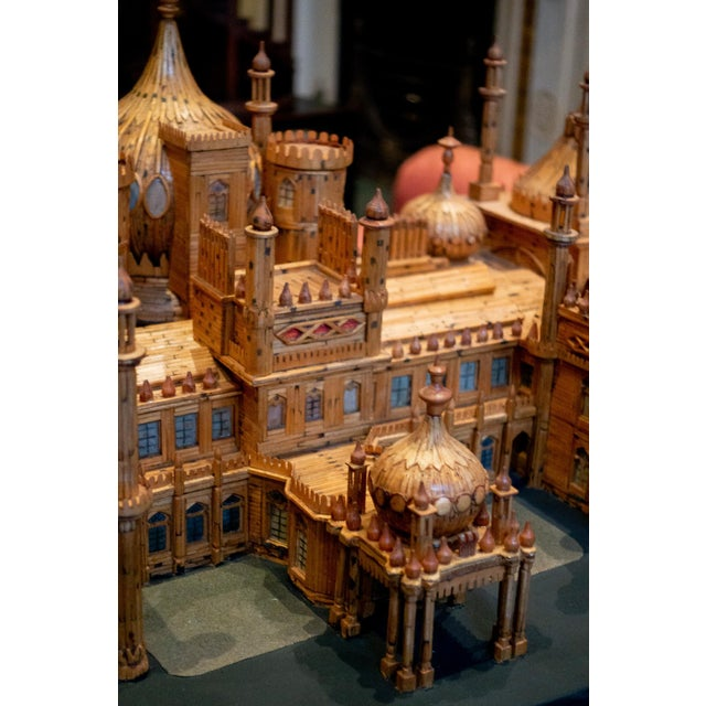 Royal Brighton Pavilion Matchstick Architectural Model by Bernard Martell For Sale - Image 10 of 13