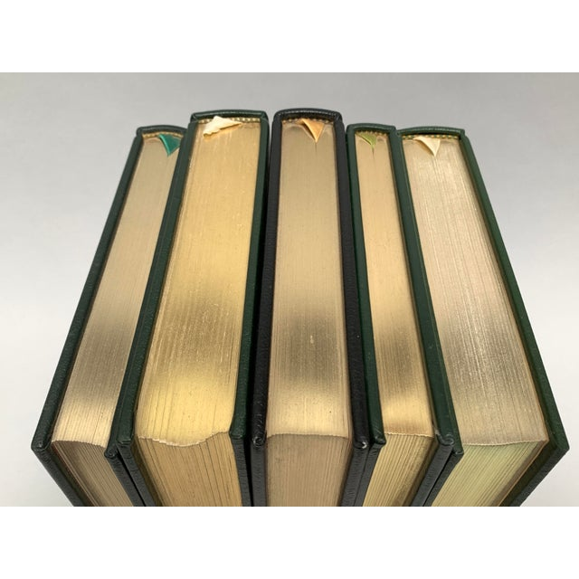 Vintage Easton Press Black and Green Leatherbound Classic Books - Set of 5 For Sale In New York - Image 6 of 12