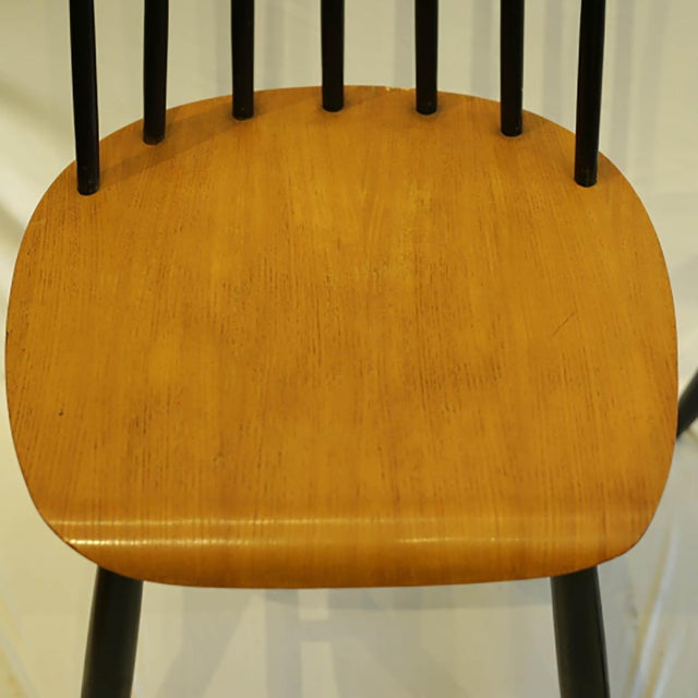 1940s Imari Tapiovaara Teak and Black Lacquered Dining Chairs, Circa 1940-1949 - a Pair For Sale - Image 5 of 8