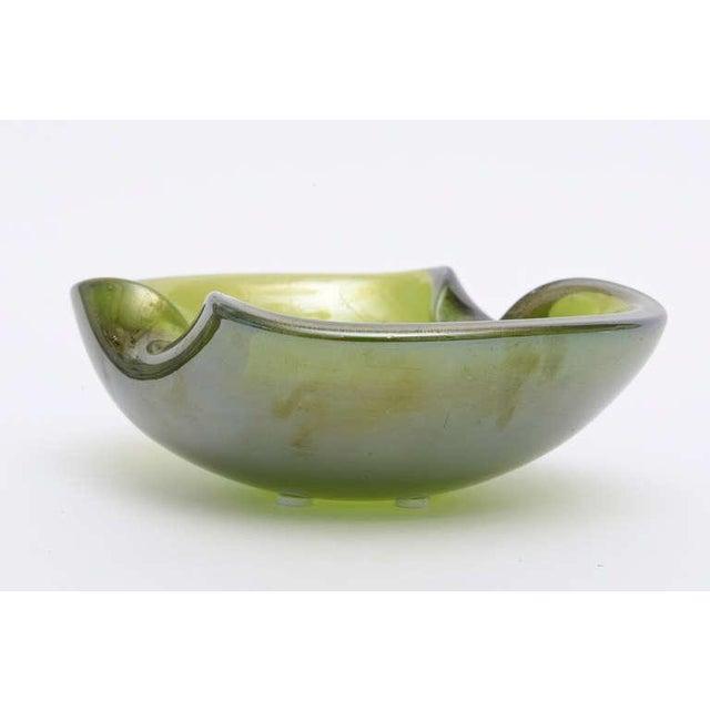 Beautiful Italian Murano Seguso Gold Iridescent Aventurine Glass Bowl - Image 4 of 10