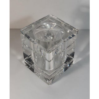 1970s Alessandro Albrizzi Attributed Square Lucite Ice Bucket and Tongs Preview