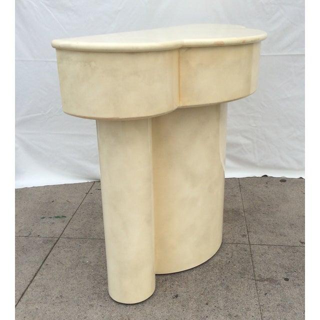Vintage 1970s Faux Parchment Console Table - Image 5 of 11