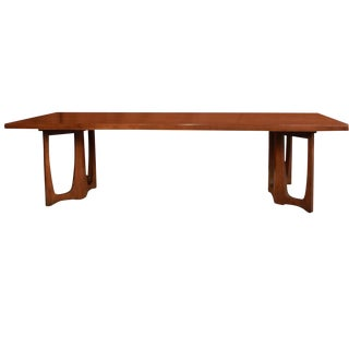 1960s Danish Modern Broyhill Brasilia Walnut Coffee Table For Sale
