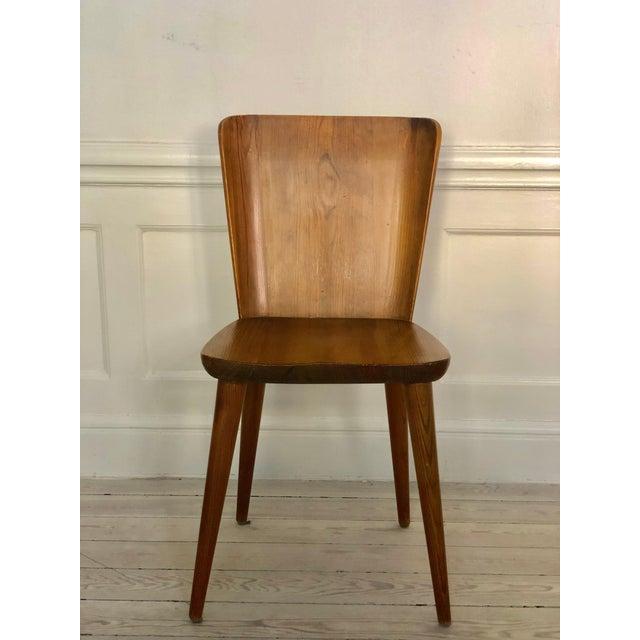Goran Malmvall Set of 4 Goran Malmvall Swedish Pine Chairs, Svensk Fur, Sweden, 1940s For Sale - Image 4 of 8