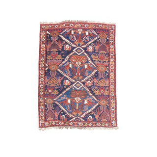 Persian Afshar Rug - 4′2″ × 5′4″ For Sale