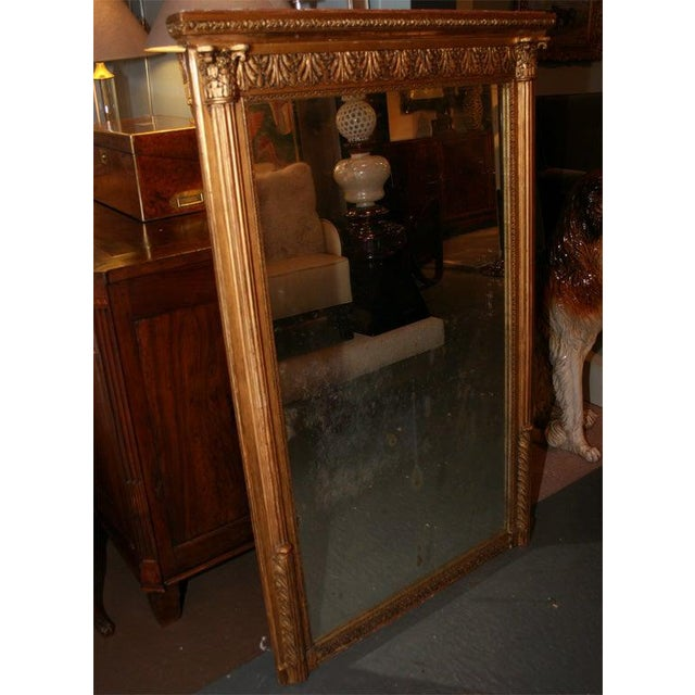 French Giltwood Louis XVI Style Mirror For Sale - Image 3 of 10