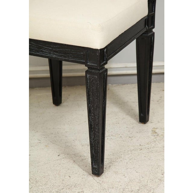 Louis XVI Style Black Cerused Chairs - Set of 4 For Sale In New York - Image 6 of 11