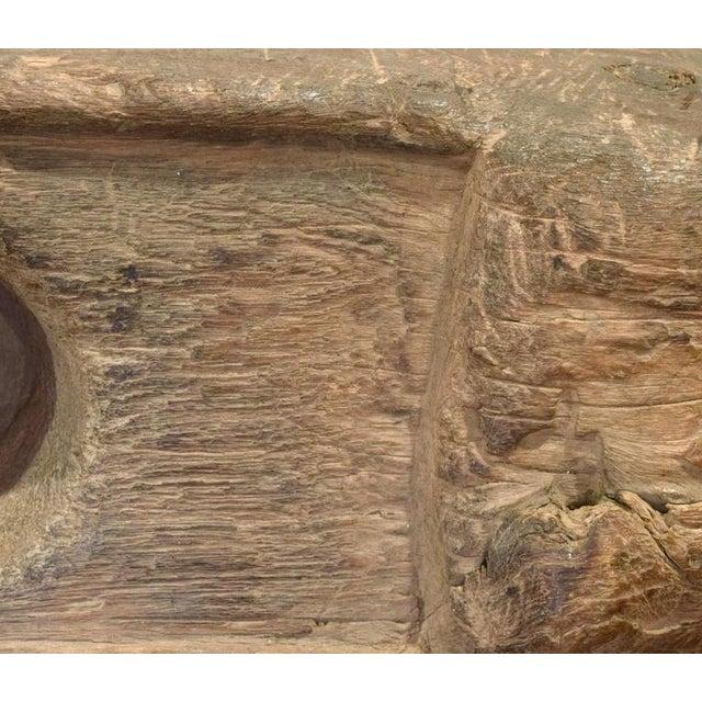 Primitive Wood Mortar - Image 6 of 6