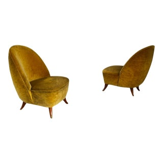 Guglielmo Ulrich Armchairs From 1950 With Original Fabric For Sale