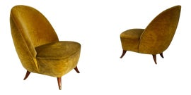 Image of Yellow Club Chairs