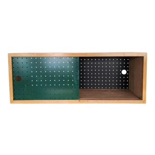 1970s Contemporary Sliding Door Wall-Mounted Shelf For Sale