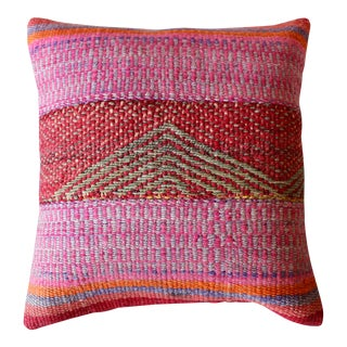 "Peruvian Mountain Frazada Pillow 17"" x 17"" For Sale"
