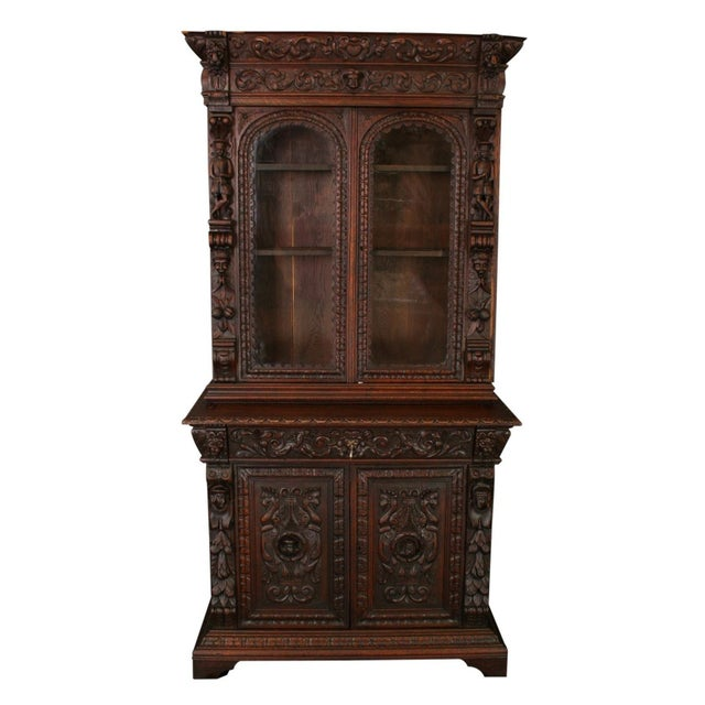Antique French Buffet Hunting Style Cabinet - Image 1 of 8