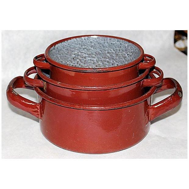 Austrian Enamelware Pots - Set of 3 - Image 3 of 5