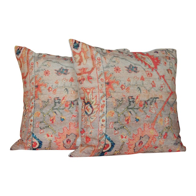 Vintage Multi-Colored Oriental Pillow Covers – a Pair - Image 1 of 7