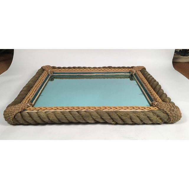 1920s Sailor Made Nautical Ropework Mirror For Sale - Image 5 of 12