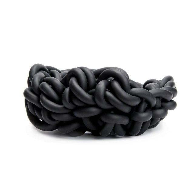 2020s Black Neoprene Hand-Knit Basket, Neo For Sale - Image 5 of 5