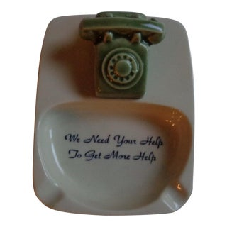 Mid-Century New York City Telephone Ashtray