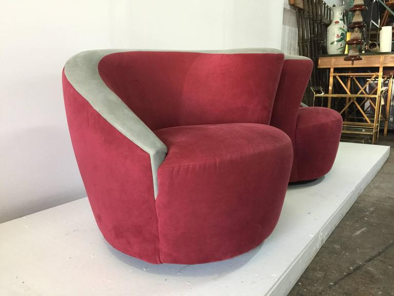 Directional Vladimir Kagan For Directional Nautilus Swivel Chairs   A Pair  For Sale   Image 4
