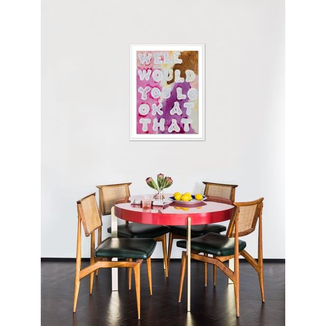 Contemporary Well Would You Look At That by Virginia Chamlee in White Frame, Medium Art Print For Sale - Image 3 of 4