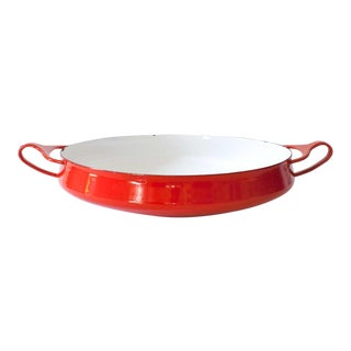 Medium Red Dansk Kobenstyle Oven to Table Server For Sale