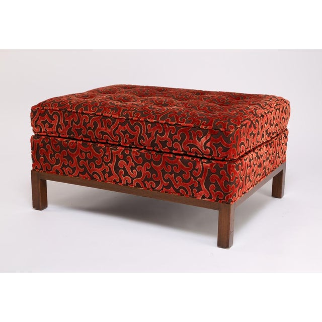 Red 1960'S VINTAGE HARVEY PROBBER LOUNGE CHAIR & OTTOMAN For Sale - Image 8 of 10