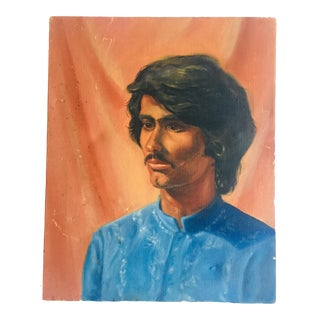 Male Portrait O/C 20x16 Unsigned Unframed For Sale
