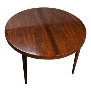 Vintage Danish MId Century Kai Kristiansen Rosewood Round Table - Husty For Sale