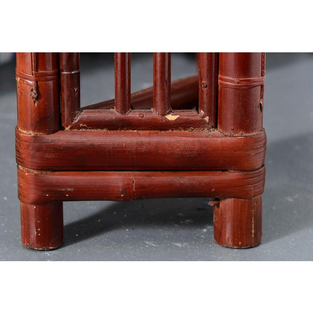 Antique Chinese Chippendale Bamboo Altar Table/Console For Sale In West Palm - Image 6 of 13